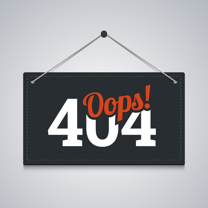 Turn '404 page not found' into a positive experience